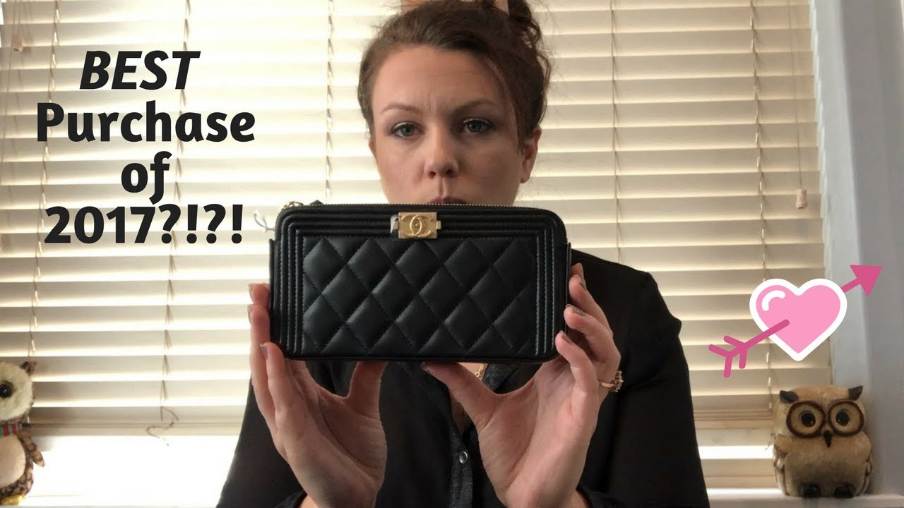 eb0c0c2d0879 Chanel Cruise 18 Double Zip Boy WOC Unboxing Review - YouTube