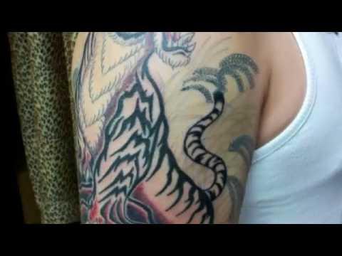 刺青 虎の意味 - YouTube