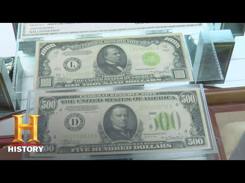 Pawn Stars: Rare $500 And $1000 Bills (Season 3) | History