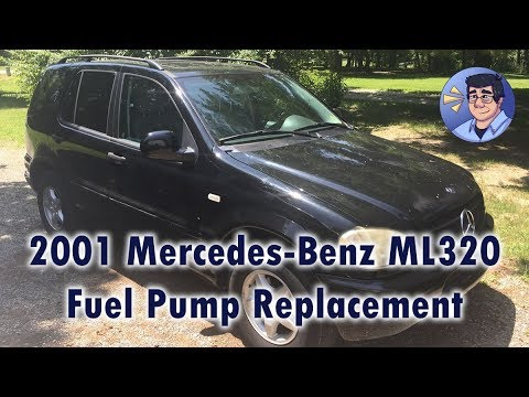2001 M-B ML320 Fuel Pump Replacement  Ml Fuel Filter Location on
