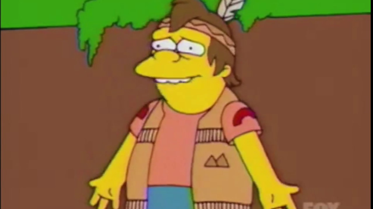 the simpsons nelson thinks tree is his father s14ep21 youtube