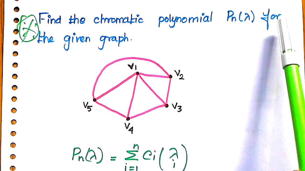 #28 Chromatic Polynomial in Graph Theory with Example ...