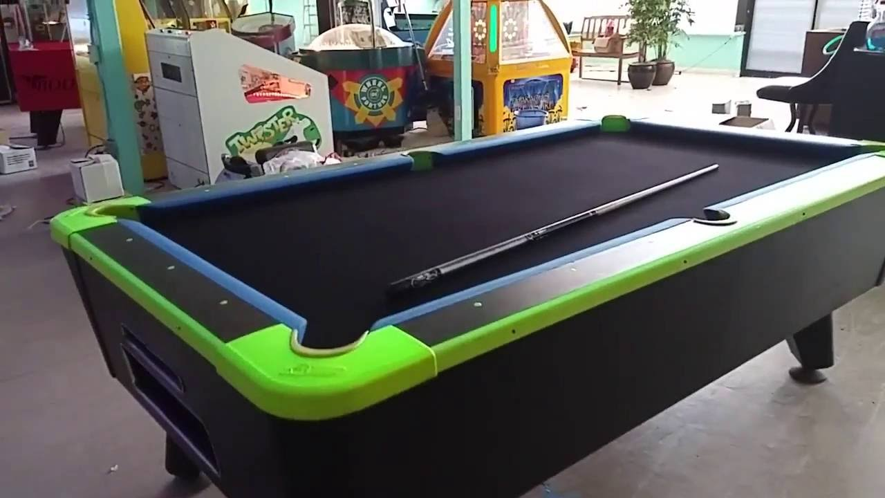 Dynamo Glow In The Dark Pool Table Coin Op YouTube - United billiards pool table coin operated