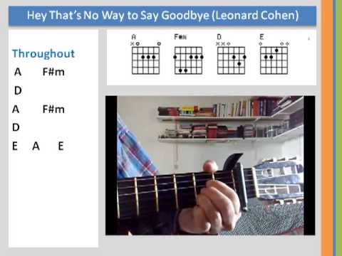 Learn Chords - Hey Thats No Way (Leonard Cohen) Cover