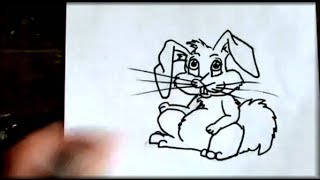How to draw the EASTER BUNNY  - STEP by STEP
