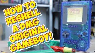 Re-Shelling A Original Game Boy DMG! Easy Mod Makes It Like New!