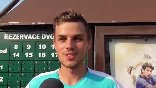 Štěpán Holiš po výhře ve 2. kole kvalifikace na turnaji Futures v Pardubicích