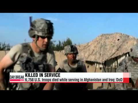 6,758 American soldiers died while serving in Afghanistan and Iraq: DoD   미군 이라크