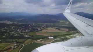 [HD]   RYANAIR   Boeing 737-8AS   Landing Girona Airport   Costa Brava   LEGE   04/05/2013