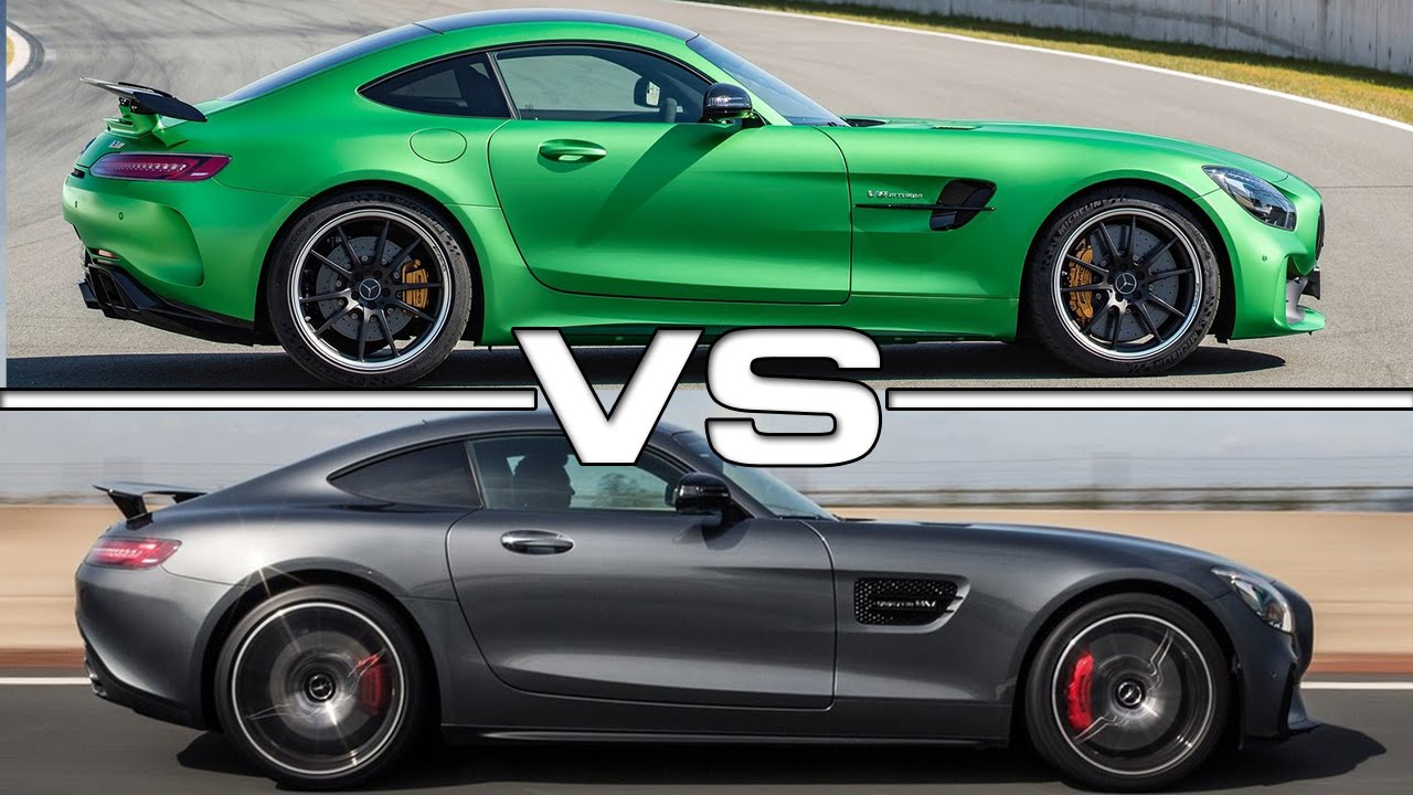 mercedes amg gt r vs mercedes amg gt s doovi. Black Bedroom Furniture Sets. Home Design Ideas