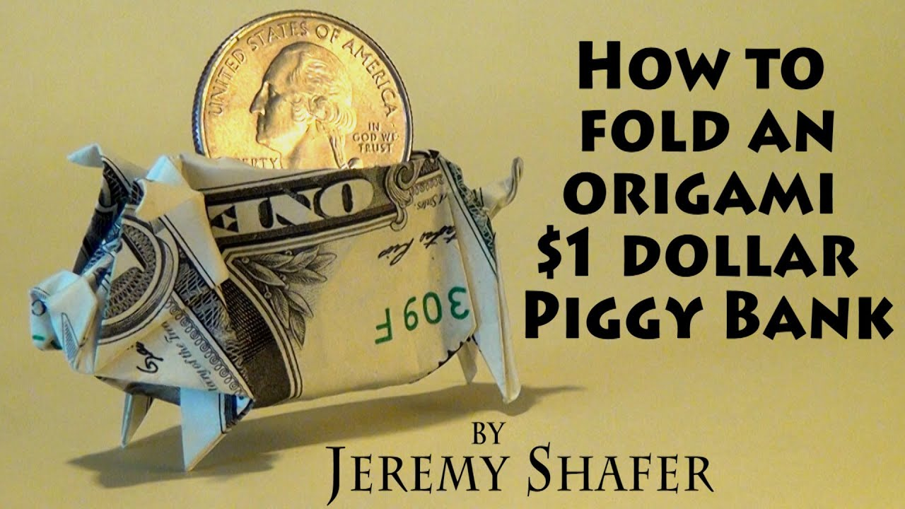 1 origami piggy bank youtube