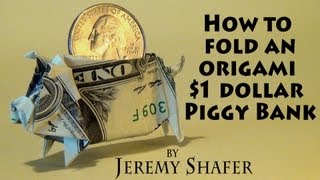$1 Origami Piggy Bank