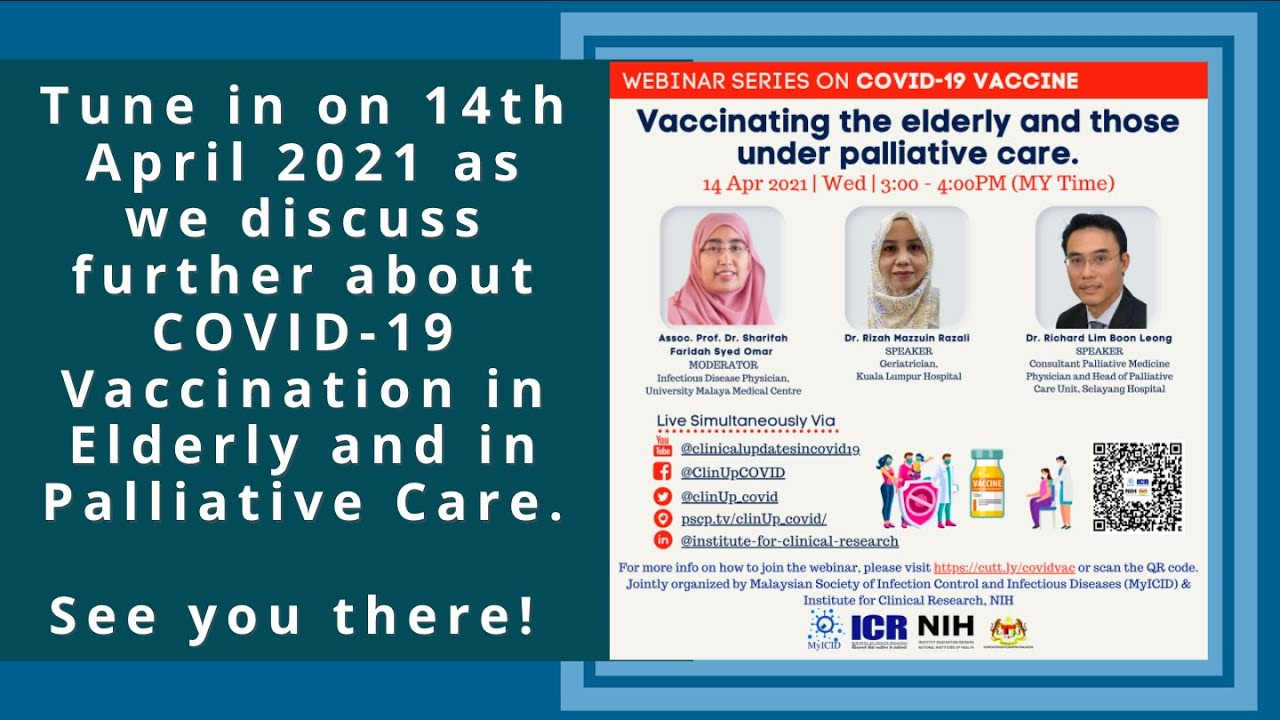 """Webinar Series on COVID-19 Vaccine: """"Vaccinating the Elderly and Those Under Palliative Care"""""""