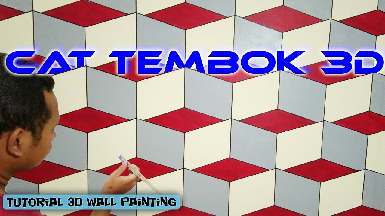 3d Wall Texture Design Optical Illusion 3d Wall Effect Cat Tembok 3d Interior Design Youtube