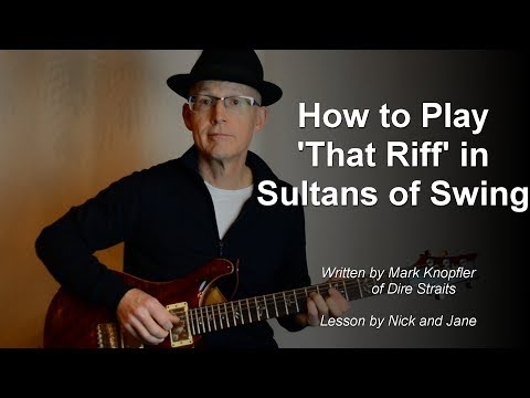 How to Play the Riff from Sultans of Swing guitar lesson TAB