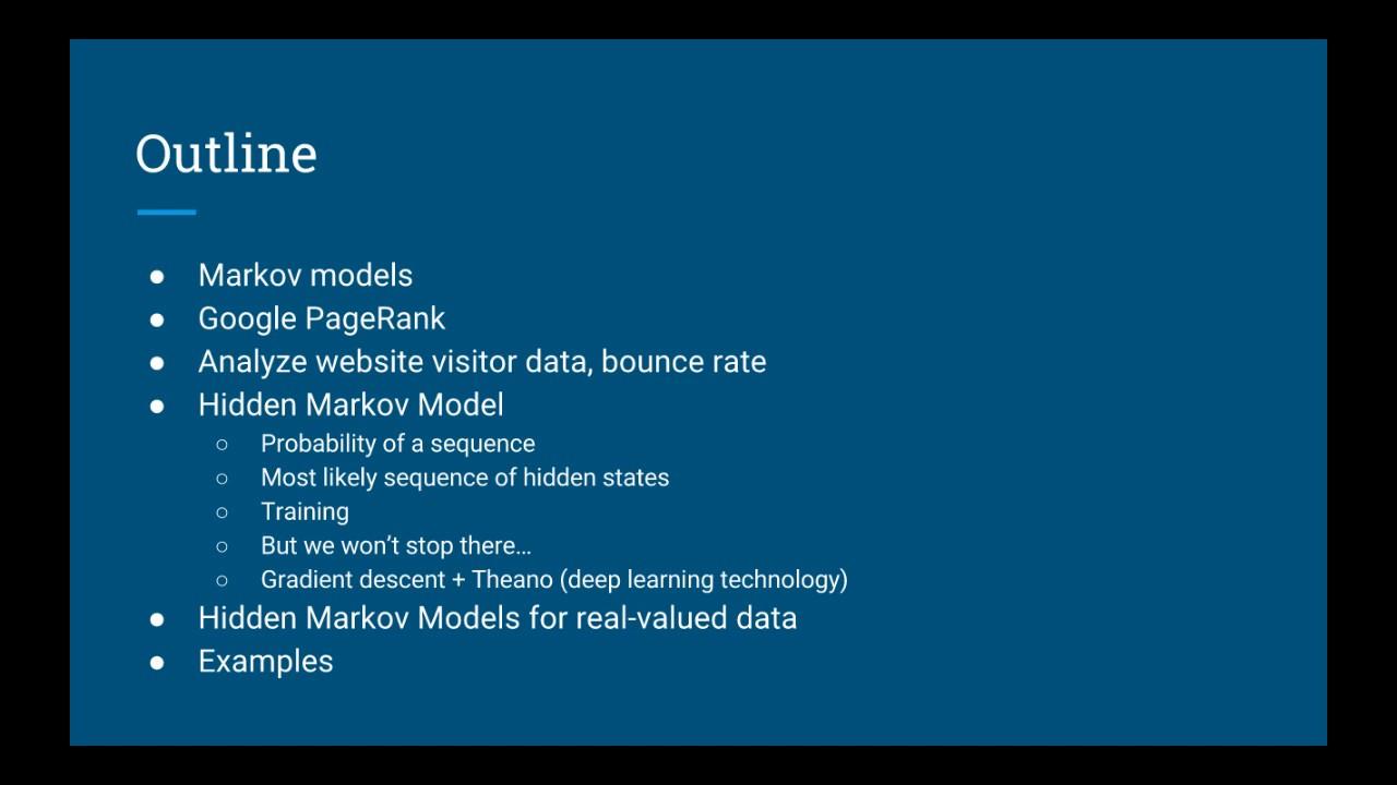 Unsupervised Machine Learning: Hidden Markov Models in Python Intro