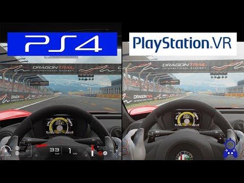 Gran Turismo Sport | Playstation VR VS PS4 | Grapchics Comparison | Comparativa
