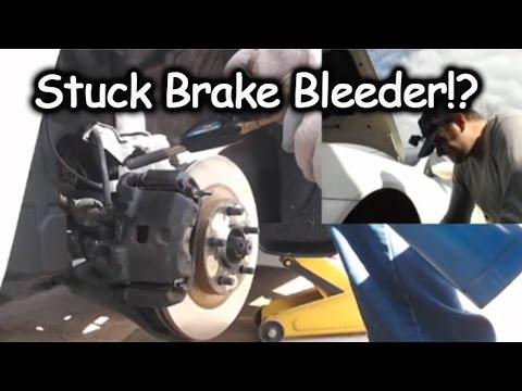 Bleeder valve stuck
