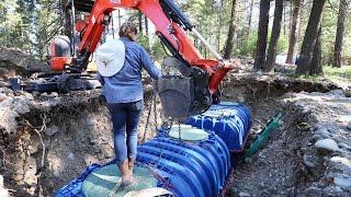 BORDERLINE SELF-TORTURE (Undoing Winter Damage to Cistern Hole)