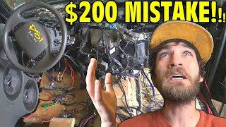 $200 Mistake REMOVING Dashboard for Custom Build w/ EXO's INSANE Car Audio Subwoofer Install 2018