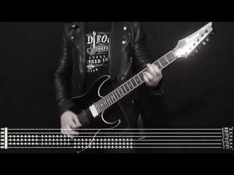 Rammstein ZWITTER Instrumental cover with tabs and backing track