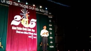 Lời mở đầu chương trình diễn nguyện mừng ngân khánh Cha Vinh Sơn Mai Thành Sơn