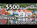 How To Plan Your Trip To Europe - Budget Travel Tips - $500 4 countries 7 weeks