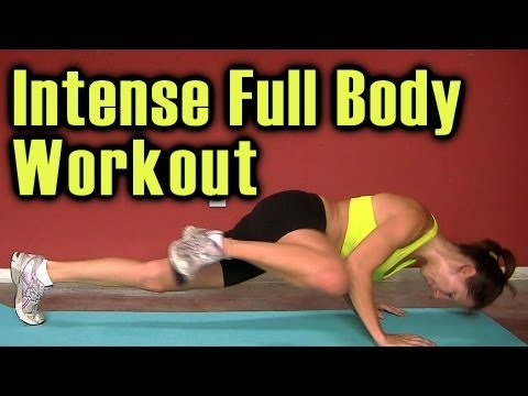 Full Body Workout: High Intensity Fat Burn Cardio Training. Home Beginners Video