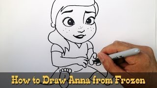 How to Draw Young Anna- Frozen- Video Lesson