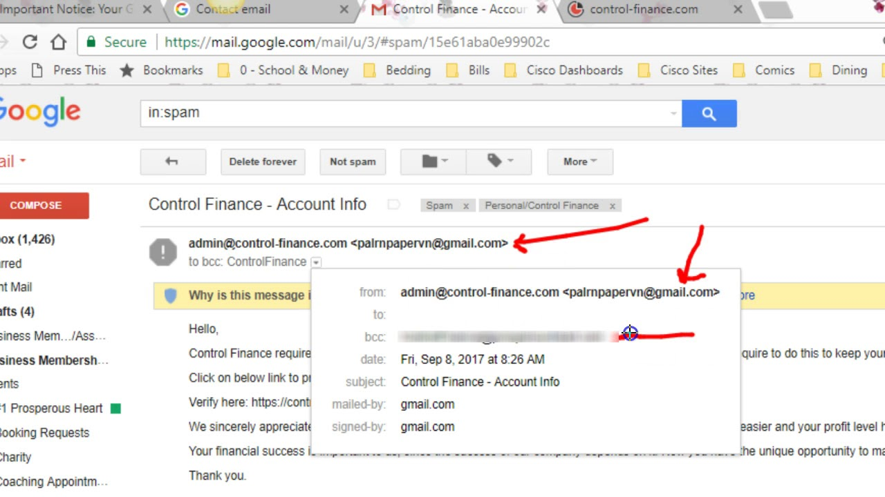 An example of a Spear Phishing email