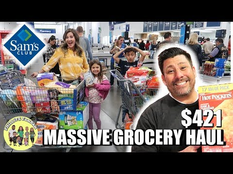MASSIVE SAM'S CLUB GROCERY HAUL | HUSBAND TAKES OVER THANKSGIVING WEEK GROCERY SHOPPING HAUL $421