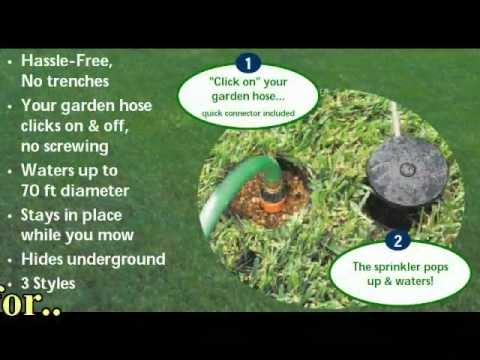 Watering Made Easy PopUp Lawn Sprinkler Systems YouTube