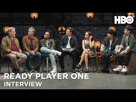 Ready Player One Interview w/ Steven Spielberg, Tye Sheridan & Cast | HBO