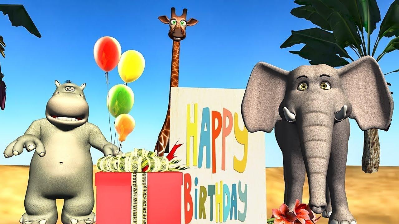 Funny Happy Birthday Song Animals Sing Happy Birthday To You Youtube