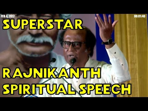 Super Star Rajnikanth Reveals about his Spiritual Life - Excellent - MUST WATCH