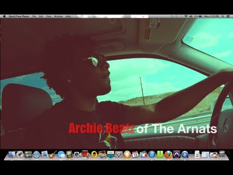 Archie Beatz in Hollywood recording