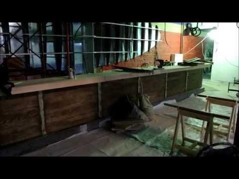 Светодиодная подсветка барной стойки в кафе