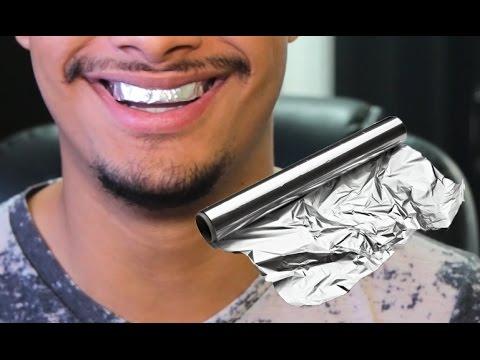 Como Clarear Os Dentes Usando Papel Aluminio Youtube
