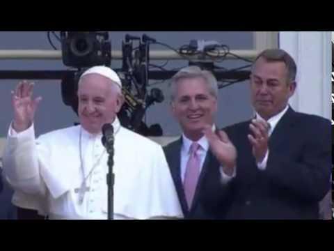 Speaker John Boehner tears up during visit with Pope Francis