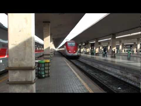 (HD)Eurostar Italia ETR500 depart from Firenze-ユーロスター発車