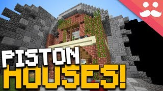 Incredible Minecraft Piston Houses!