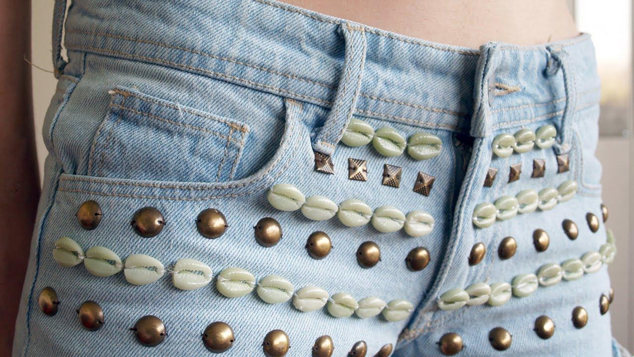 DIY: 3 ideas para customizar tus shorts este verano - YouTube