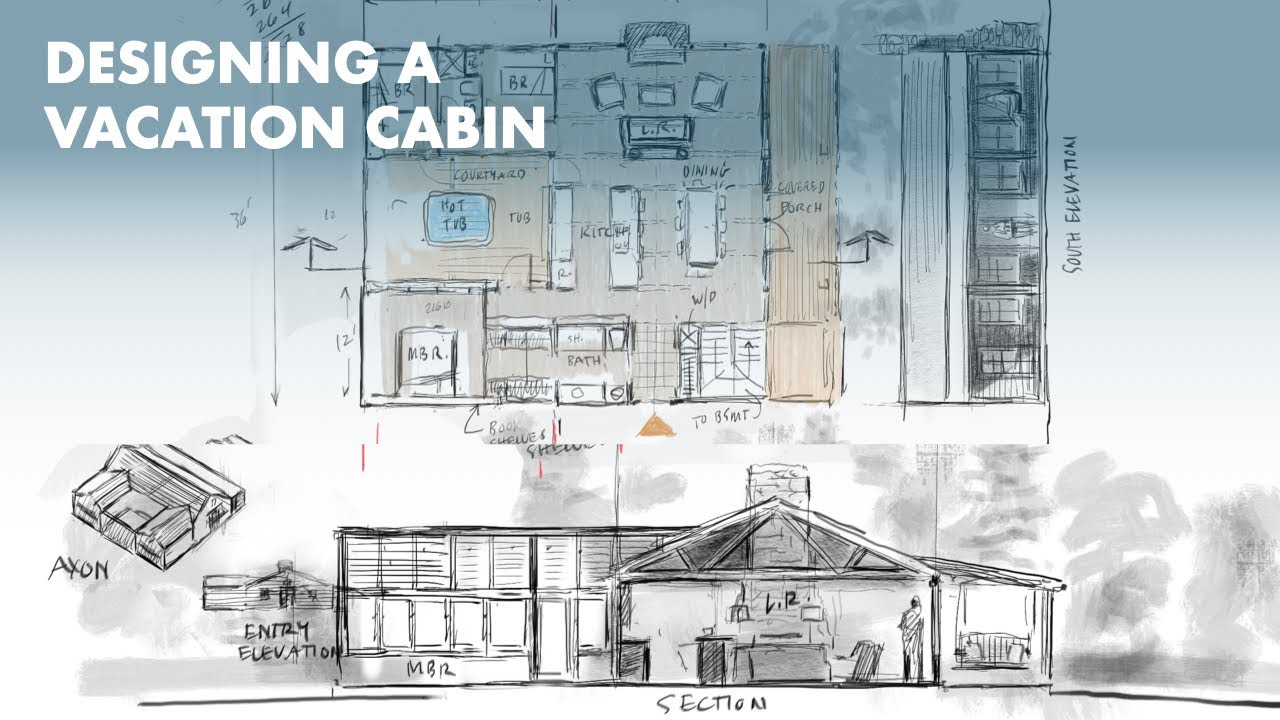 Watch Architect Design Render A Cabin In The Woods Using