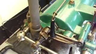 Crossley Piano Base Slide Valve Engine From Anson displayed at the 2013 Nuenen Rally