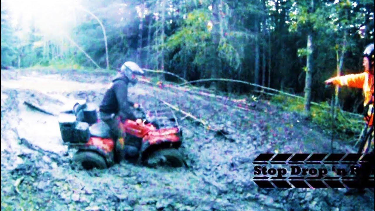 Side By Side Atv >> Kodiak 400 ATV Quad 4 Wheeler Mudding - YouTube