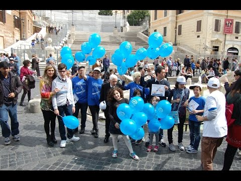 "2 Aprile 2016: Angsa Lazio colora di ""blu"" piazza di Spagna"