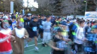 平成23年12月11日に香取市で行われた第3回香取小江戸マラソン大会の5km...