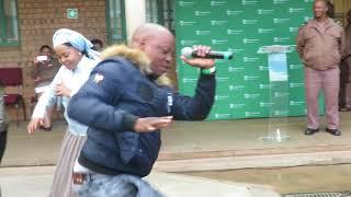 Winnie Mashaba performs ditheto at Makhado correctional center