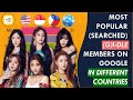 Most Popular Searched GI-DLE Member On Google In Different Countries 2018-2020 US, Indonesia