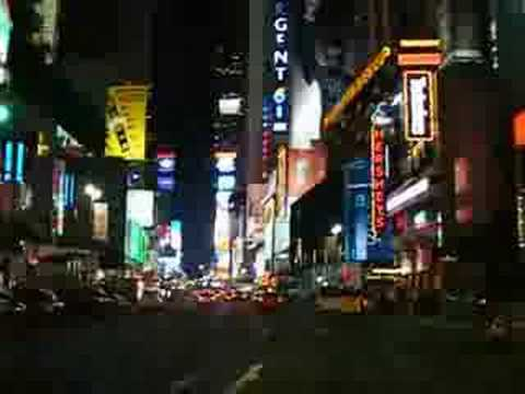 Broadway Downtown (Times Square) by night
